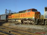 BNSF C40-8W 818 at Bay Yard