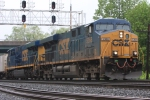 CSX 5368 storms by with a fresh crew and a hot intermodal