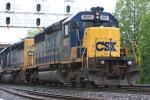 CSX 8827 performing MOW duties