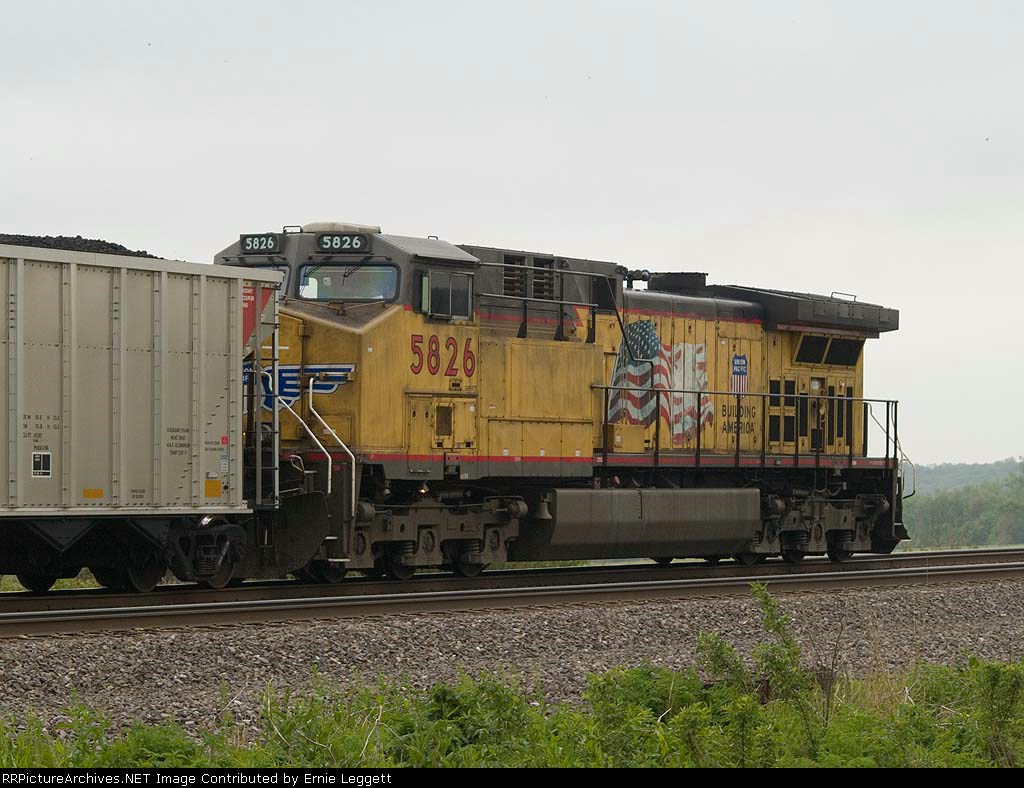 UP 5826 rear DPU in a EB coal drag at 1:38pm