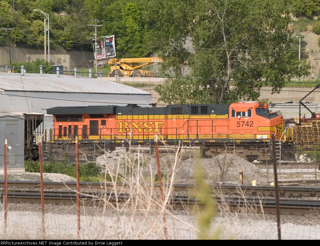 BNSF 5742 rear DPU on a NB coal train at 4:51pm
