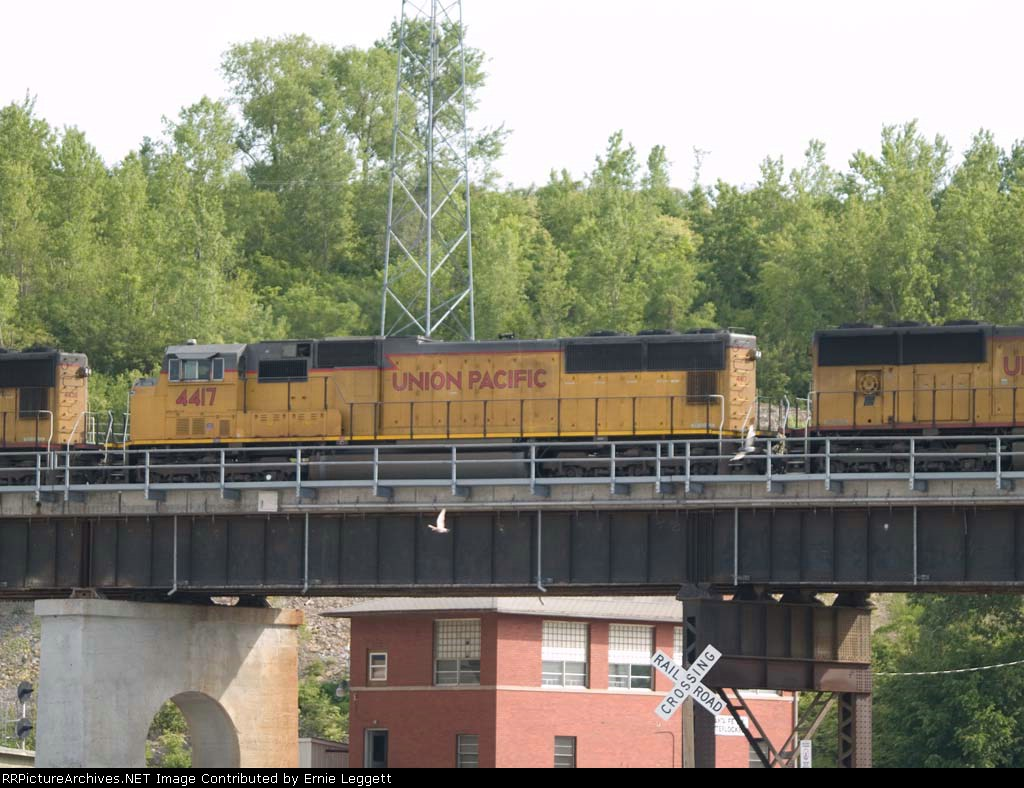 UP 4417 #2 power in a WB doublestack at 5:19pm