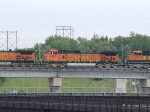 BNSF 5187 #2 power in a WB piggyback at 10:51am