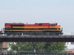 KCS 3997 leads an EB grain train at 11:13am
