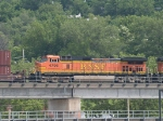 BNSF 4796 rear DPU on a WB doublestack at 11:25am