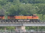 BNSF 4768 #2 rear DPU on a WB doublestack at 11:25am