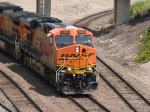 BNSF 5866 leads a SB coal train at 12:05pm