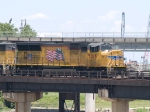 UP 5015 leads a SB manifest at 12:47pm