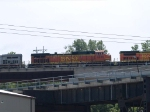 BNSF 4466 #3 power in an EB doublestack at 1:08pm