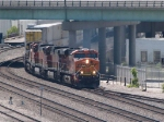 BNSF 7560 leads an EB doublestack at 2:12pm