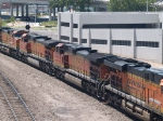 BNSF 4765 #2 power in an EB doublestack at 2:12pm