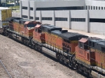 BNSF 5312 #3 power in an EB doublestack at 2:12pm