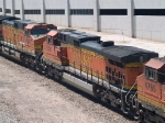 BNSF 4924 #4 power in an EB doublestack at 2:12pm