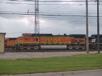 BNSF 4382 leads a waiting manifest at 4:37pm