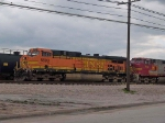 BNSF 5609 leads a waiting WB consist at 4:39pm
