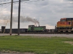 BNSF 3427 leads a switching group at 4:42pm