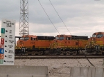BNSF 5906 and BNSF 5174 waiting in the lines at 4:45pm