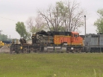 BNSF 5101 sits at Mid-America Car at 9:21am