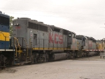 KCS 2900 #2 power in a light power move at 11:19am