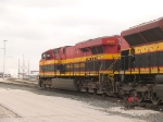 KCS 4681 #3 power in a light power move at 11:37am