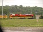 KCS 4128 #2 DPU in an EB coal train at 11:50am