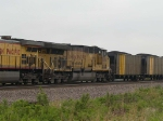 UP 7391 #2 power in a EB coal drag at 1:38pm