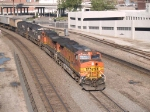BNSF 5458 leads an EB Z-train at 8:39am