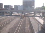 UP 6811 leads a WB manifest at 8:53am