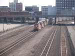 BNSF 5309 leads a WB doublestack at 9:01am