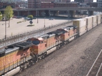 BNSF 5247 #2 power in a WB doublestack at 9:01am