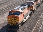 BNSF 5516 leads a WB doublestack at 9:23am
