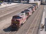 BNSF 4717 leads a WB doublestack at 10:13am