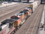 BNSF 4514 #3 power in a WB doublestack at 10:13am