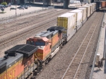 BNSF 4486 #4 power in a WB doublestack at 10:13am