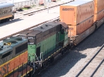 BNSF 1479 #2 power in an EB doublstack at 10:32am