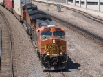 BNSF 4565 leads an EB doublestack at 12:20pm