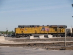 UP 5315 leads a WB light power at 8:18am