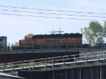 BNSF 6919 #3 power in an EB doublestack at 8:38am