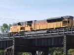 UP 8154 #2 DPU in a WB coal train at 9:12am