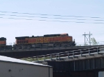 BNSF 5313 leads a WB grain train at 9:33am