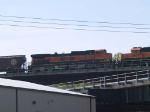 BNSF 1113 #3 power in a WB grain train at 9:33am
