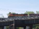 BNSF 5191 rear DPU on a WB grain train at 9:33am