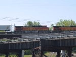 BNSF 4011 #3 power in a WB piggy-back at 10:09am