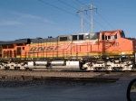 BNSF 5760 rear DPU on a WB coal train at 7:40am