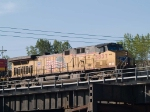 UP 5837 leads a WB coal train at 7:52am