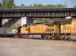 UP 9694 #3 power in a WB manifest at 7:52am
