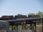 BNSF 4661 #2 power in an WB doublestack at 8:29am