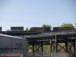 BNSF 4086 #3 power in an WB doublestack at 8:29am