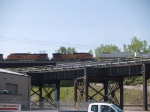 BNSF 4758 #3 power in an EB piggy-back at 9:24am