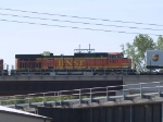 BNSF 4921 #4 power in an EB piggy-back at 10:01am